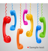 Hanging colored handsets