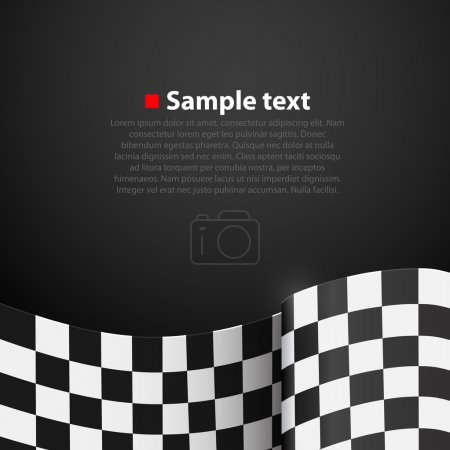 Racing Checkered Flag Finish vector background