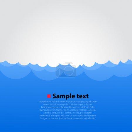 Illustration pour Vecteur fond marin - image libre de droit