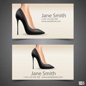 Women's shoe vector business card
