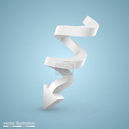 Illustration pour Flèche spirale vectorielle - image libre de droit
