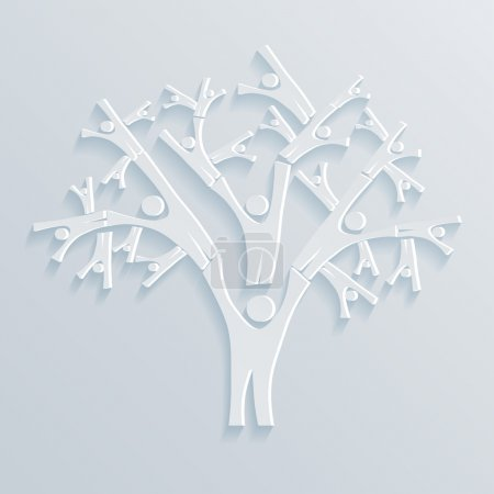 Illustration for Tree People vector illustration - Royalty Free Image
