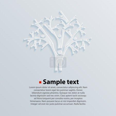 Tree People vector illustration. genealogy