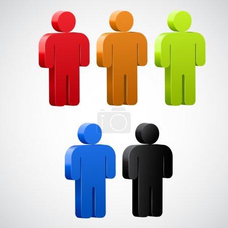 Illustration pour Utilisateur icon color set Vector. - image libre de droit