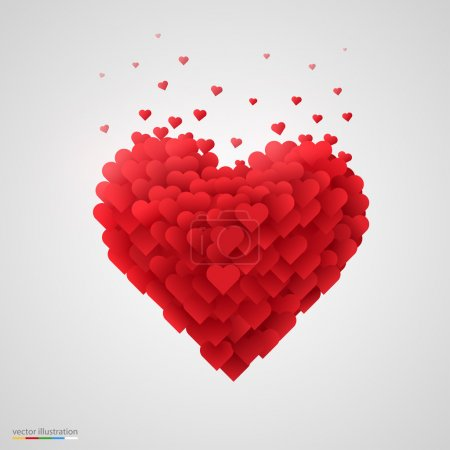 Illustration for Valentines heart. Vector illustration. - Royalty Free Image