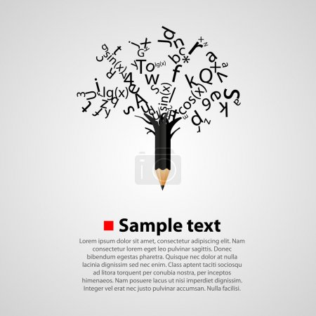 Illustration for Vector alphabet tree with letters - Royalty Free Image