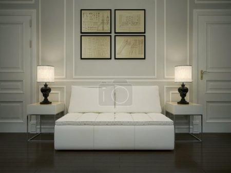 Photo pour Hall intérieur de style art déco, images 3d - image libre de droit