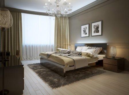 Photo pour Intérieur de la chambre dans un style moderne, images 3D - image libre de droit