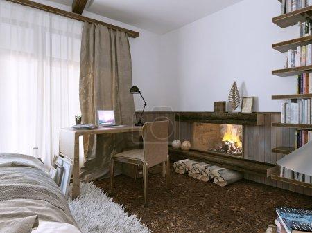 Bedroom rustic style