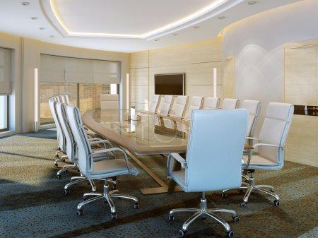 Photo pour Modern meeting room, 3d images - image libre de droit