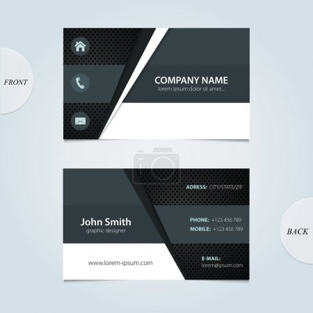 Illustration for Vector abstract business cards. - Royalty Free Image