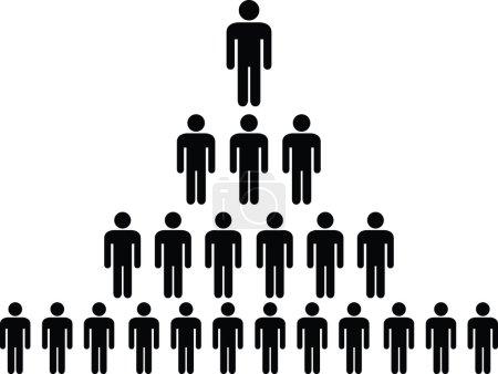 Illustration pour Pyramide du pictogramme humain illustrée sur blanc - image libre de droit