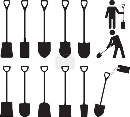 People with shovels