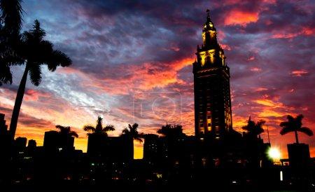 Miami Bayside at sunset