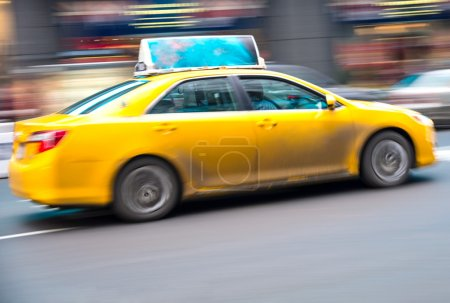 Yellow cab on the street