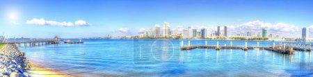 Photo for Panoramic view of San Diego skyline from Coronado Island - Royalty Free Image