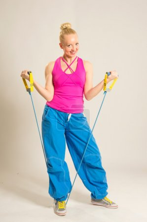 Fitness trainer with resistance bands