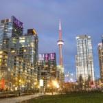 Toronto downtown skyline at evening...