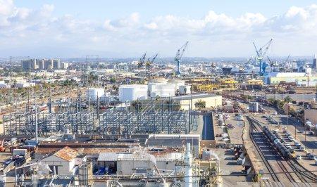 San Diego harbor panoramic view