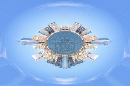Photo pour Mini planète et manhattan skyline - image libre de droit