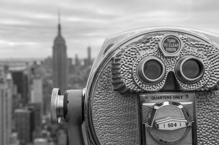 Photo for Aerial view of Manhattan from a Binocular - Royalty Free Image