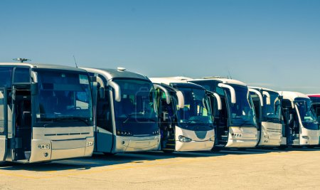 Photo for Touristic buses in a row - Royalty Free Image