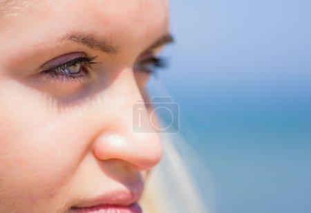 Woman eyes close up