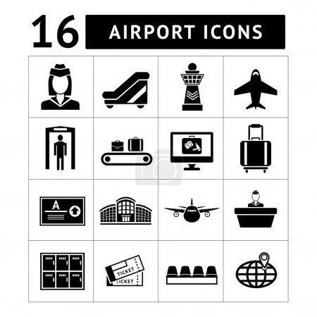 Set icons of airport