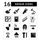 Set icons repair and building isolated on white
