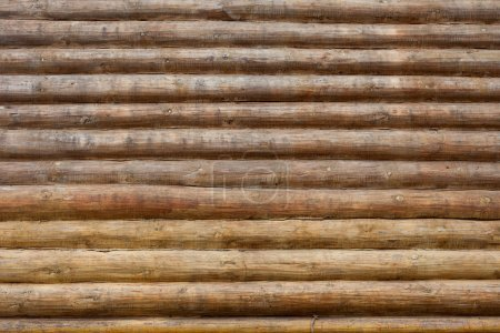 Wall of log background