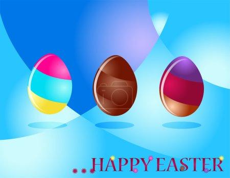Happy easter. Multi color eggs