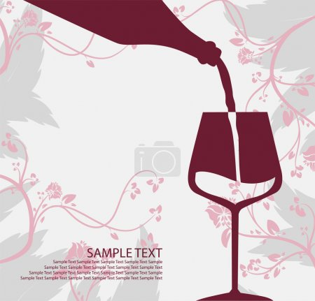 Pouring wine concept. Sample text