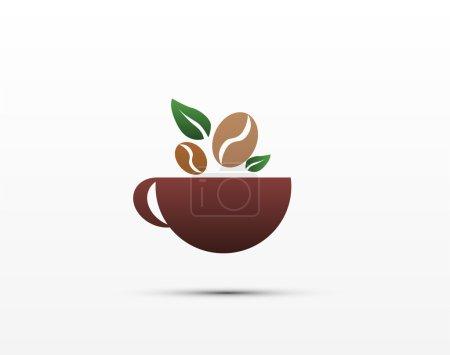 Coffee cup. Logos. Design menu