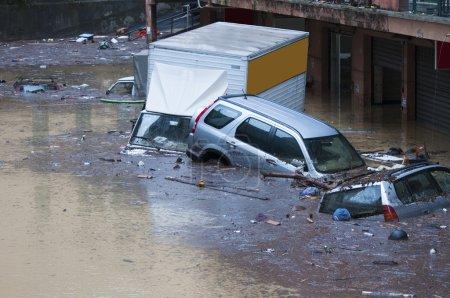 Flood in Genoa.