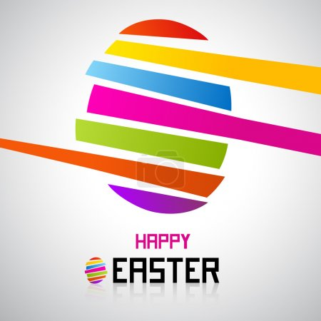 Illustration for Easter egg, shiny colors, Happy Easter celebration, vector - Royalty Free Image