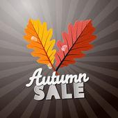 Retro Autumn Sale Background