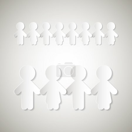Paper People Holding Hands