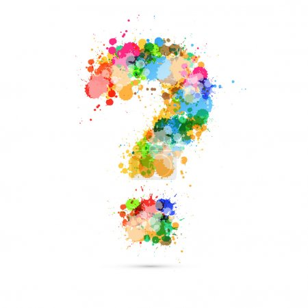 Abstract Vector Question Mark Colorful Symbol