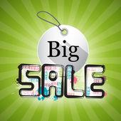 Big Sale Green Background