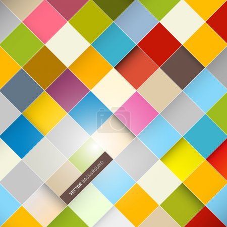 Illustration for Abstract Vector Background - Colorful Squares - Royalty Free Image