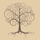 Abstract Retro Tree Illustration