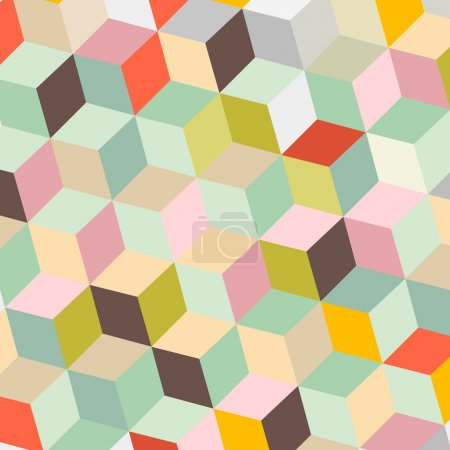 Colorful Abstract Vector Retro Background