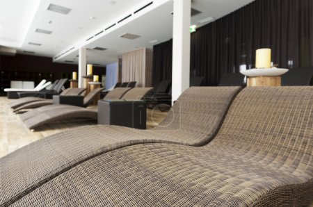 Silent room for relaxing to get away from it all with modern furniture and decoration
