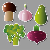 Sada vektorových ikon zeleniny