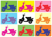 Scooter pop artInspiration from Andy Warhol
