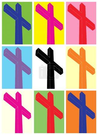 Crucifix, pop art