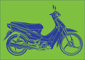 A moped inspiration pop art of Andy Warhol