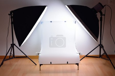 Photo for Shooting Table and lighting system for high-qualitative product or material photography - Royalty Free Image