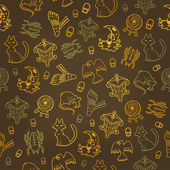 Halloween seamless background Vector illustration