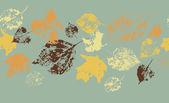 Horizontal seamless autumn background